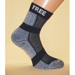 Ponožky Free Time – sportovní, kombinace tmavě modré a světle modré