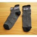 Ponožky Sport – kotníkové, tmavě šedé s černou patou a špičkou